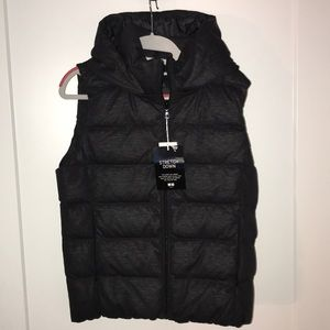 Brand new down vest with hood